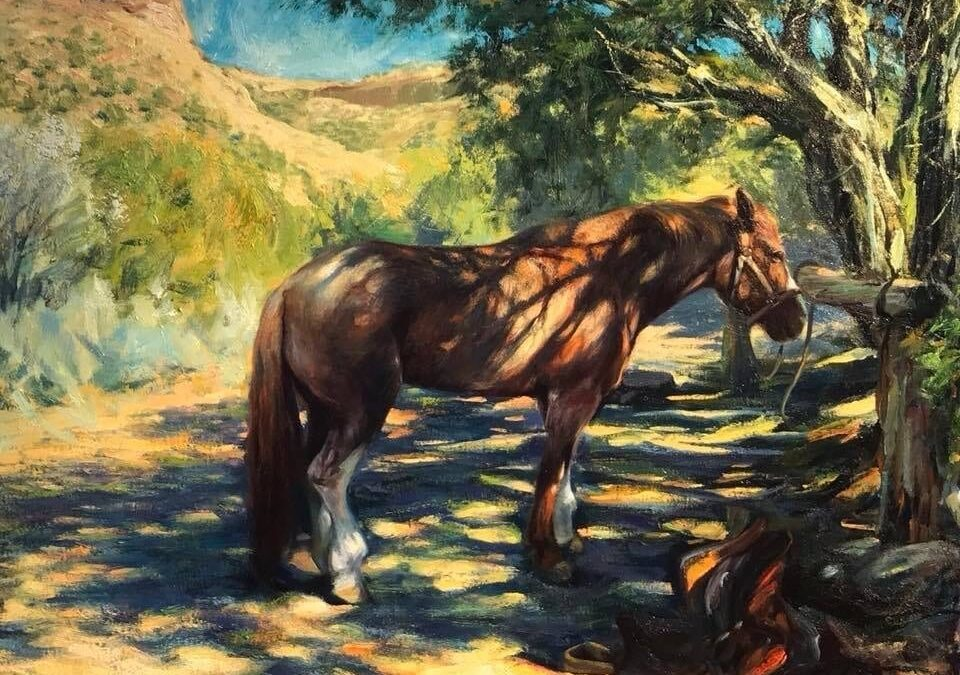 Martin- Early resting in the Shade- Oil on Canvas 24 x 30