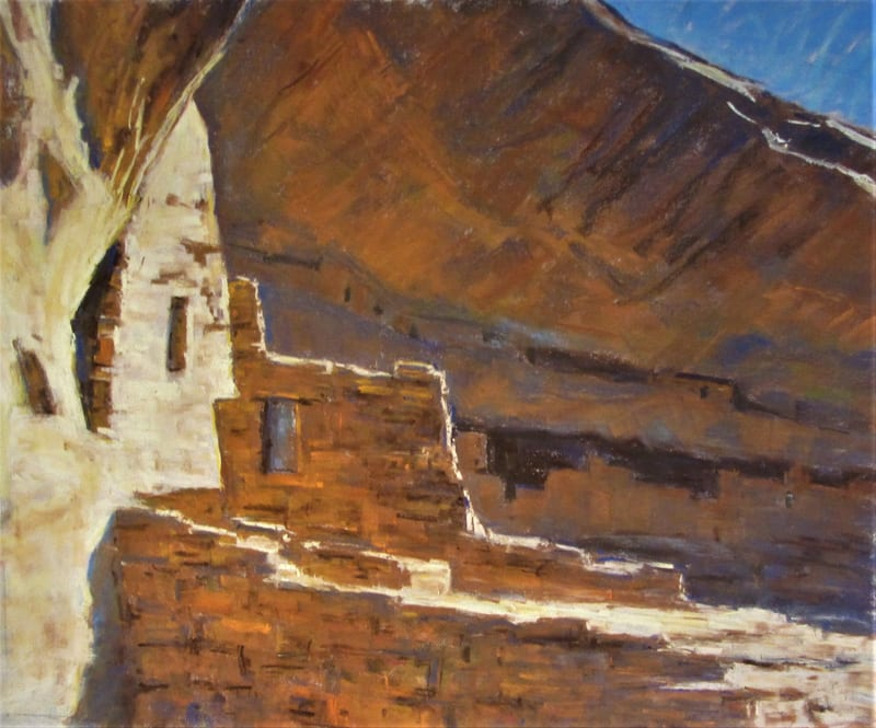 Canyon of the Ancients Pastel 20 x 24 SOLD_800