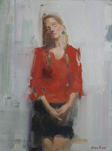 Diane, oil on panel 12 x 16, May 2018